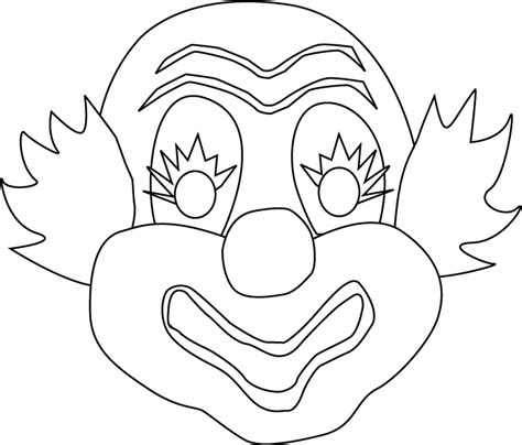 printable clown mask clown mask to print colouring pages