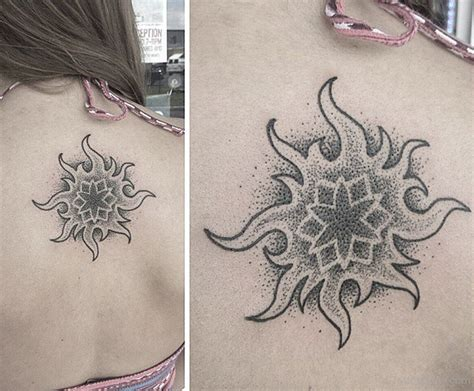 tribal dotwork tattoos sun tattoos designs pictures