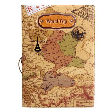Passport Cover Map Edition leather world map passport holder organizer travel card document cover coffee lazada ph