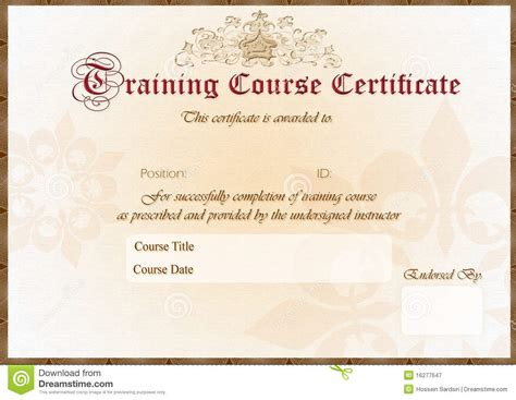graphic design certificate maryland training certificate royalty free stock photography