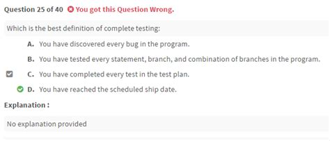 completed definition definition of complete testing istqb foundation level