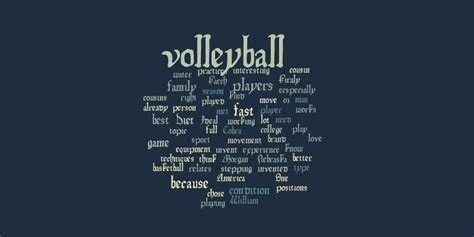 volleyball word cloud worditout