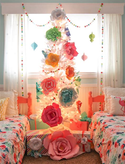paper bedroom decorations the craft patch paper flower christmas tree