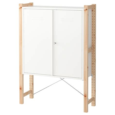 ivar cabinet ivar cabinet with doors pine white 89x30x124 cm ikea