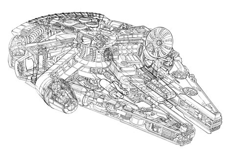 star wars millennium falcon coloring page free coloring pages of millenium