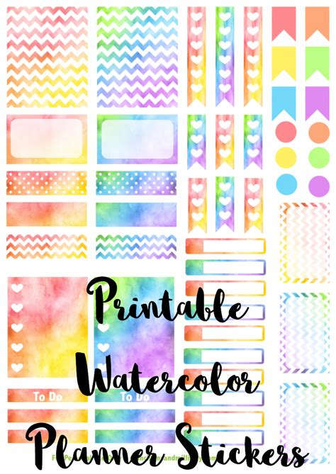 printable planner stickers 2016 printable watercolor planner stickers munchkins and the