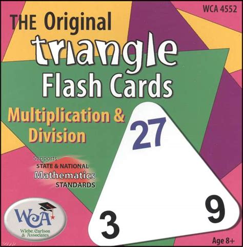 triangle multiplication flash card template triangle flash cards