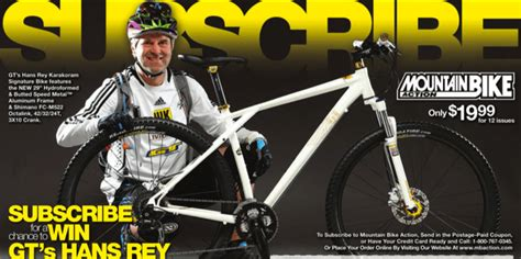 Cycling Sweepstakes - mountain bike action magazine mountain bike sweepstakes