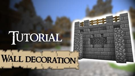 minecraft walls tutorial minecraft tutorial how to decorate medieval walls youtube