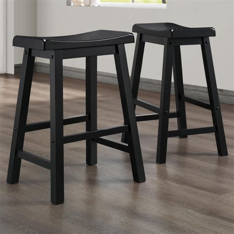 Saddle Seat 24 Inch Counter Stools by Homelegance 5302 24 Inch Stool With Curved Saddle Seat