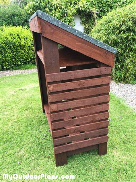 Wood Shed Bbq by Diy Narrow Wood Shed Myoutdoorplans Free Woodworking