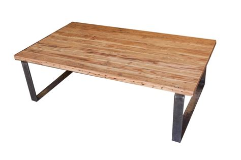 portland rectangular coffee table in reclaimed wood and