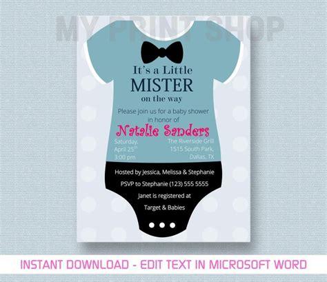 Baby Boy Invitation Card Template