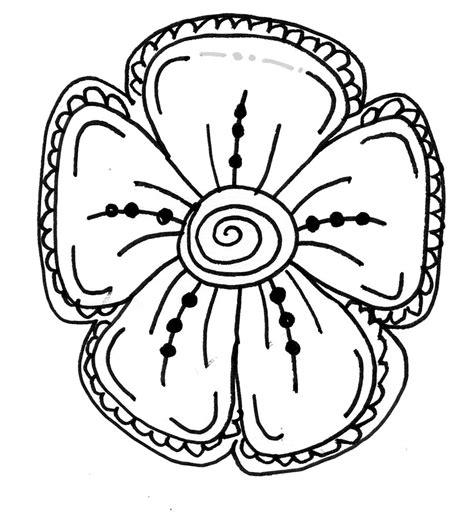 draw doodle flower easy flower drawings clipart best