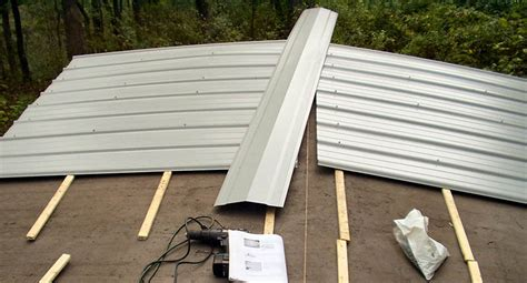 steps   install metal roofing