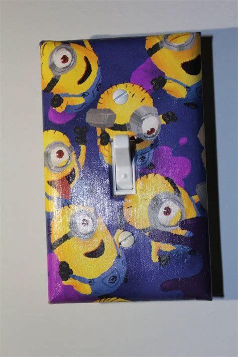 despicable me bedroom accessories despicable me minion light switch plate cover room decor