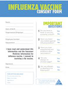 influenza vaccine consent form free download