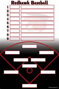 baseball fielding lineup template baseball
