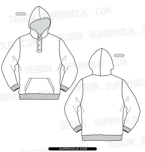 hoodie template sketch hellovector
