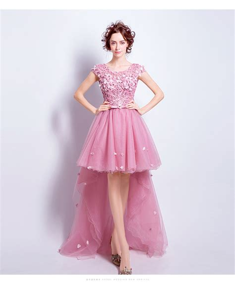 Pink Sweet Lace Dress 17835 cocktail dresses best dressed