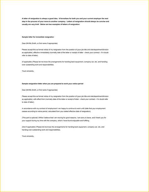simple letter resignation template sample