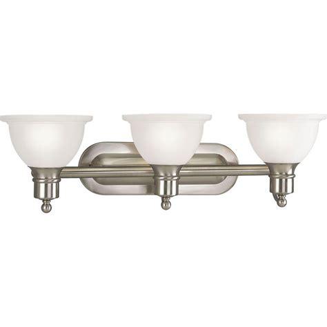 bathroom lighting collections progress lighting madison collection 3 light brushed