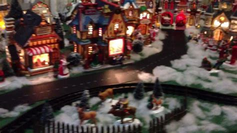 lemax starlight express christmas village train youtube
