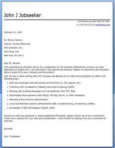 Cover Letter For System Administrator by Cover Letter For System Admin Experienced Resume Downloads