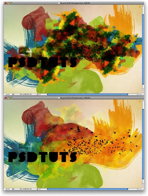 watercolor typography tutorial dynamic recessed watercolor typography in photoshop