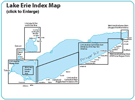 printable map erie pa erie fishing map lake central basin east fishing map