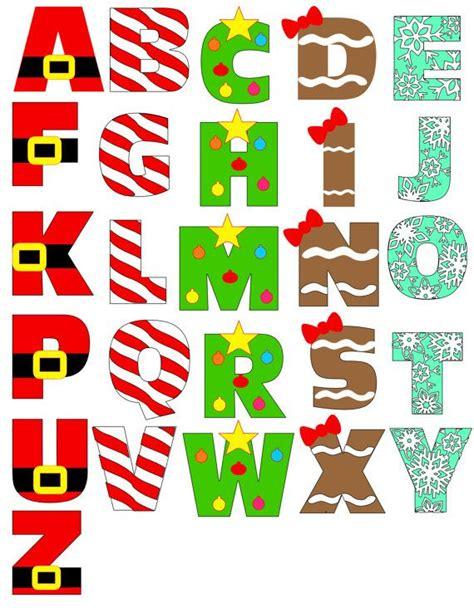 printable alphabet christmas 292 best letras en fomi y fieltro images on pinterest