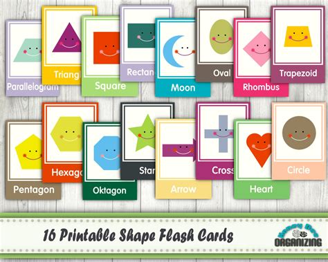 printable flash cards shapes printable shape flash cards educational printables home