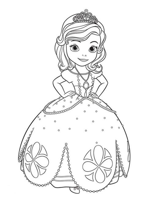 Princess Sofia The First Coloring Pages Colouring Pages Princess Sofia Coloring Pics