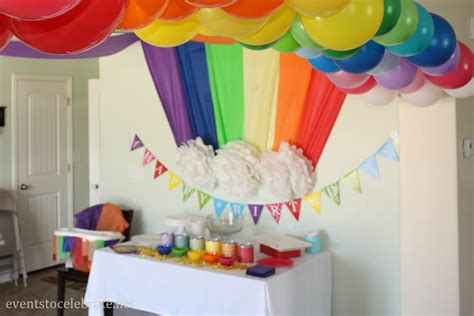 themed birthday rainbow themed birthday events to celebrate