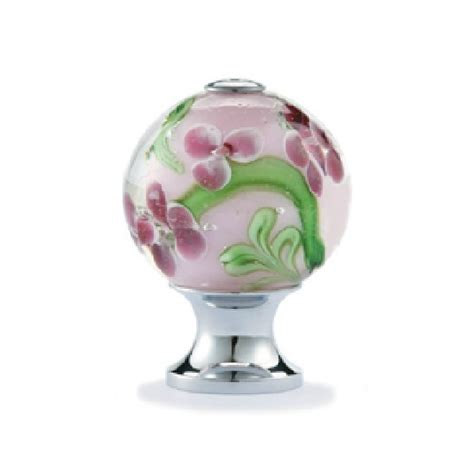 Glass Cupboard Door Knobs by 10pcs Decorative Color Flower Vaidurya Glass Cabinet