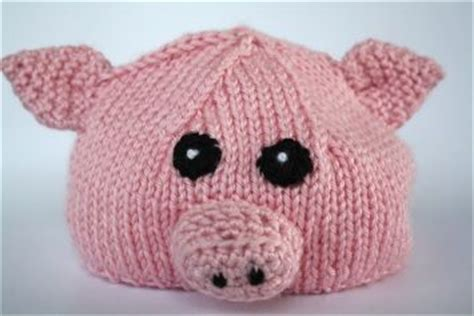 knitted pig hat knitted pig hat could do many animals shrek