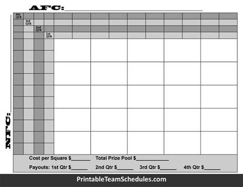bowl betting pool template 25 football squares football pool with quarter line print