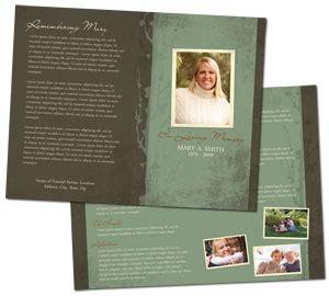 funeral handouts template funeral program service template