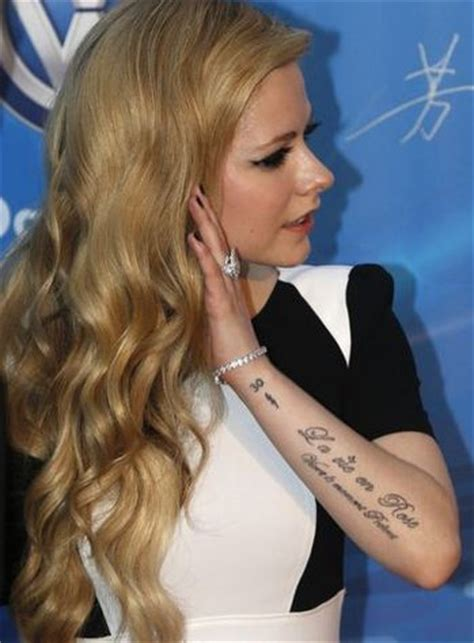 avril lavigne tattoos avril lavigne pop babble