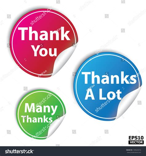 Thanks A Lot thank you thanks many thanks stickers stock vector