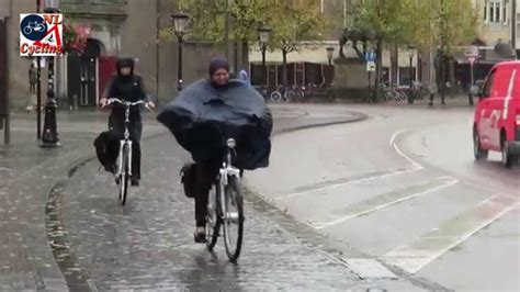 bicycle raincoat utrecht netherlands cycling in the rain youtube