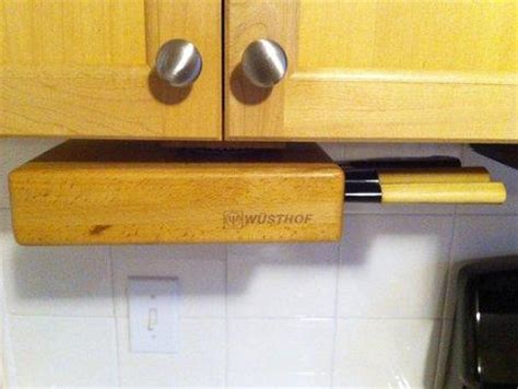 Counter Knife Rack by Cabinet Knife Holder The Swivel Oak Block Keeps