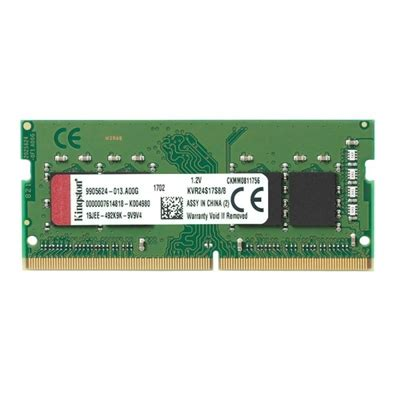 kingston kvr24s17s8 8 8gb sodim ddr4 2400mhz 1 20v