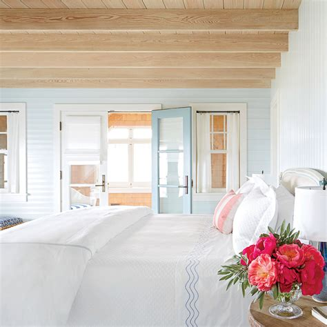 Coastal Cottage Home Plans by Blue Painted Shiplap Bedroom 15 Shiplap Wall Ideas For