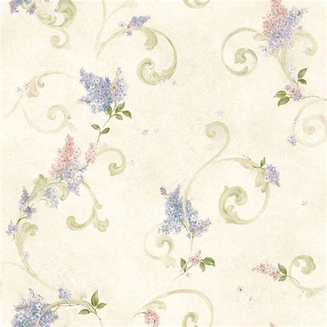 Design My Kitchen Home Depot chesapeake lilac blush acanthus wallpaper ccb21601 the