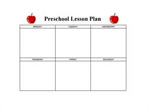 daily lesson plan template for preschool best photos of preschool daily lesson plan template