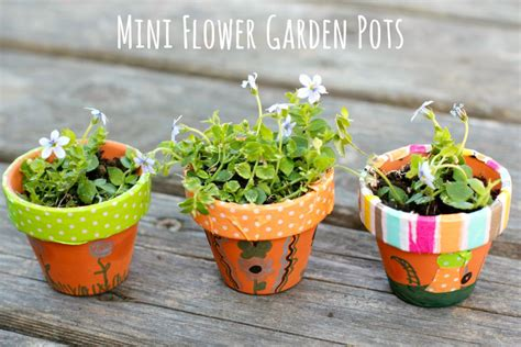 flower pot crafts for diy mini flower garden pots
