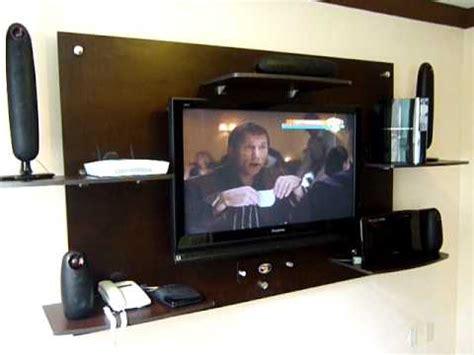 librero y tele panel tv centros de entretenimiento esbeltos a pared
