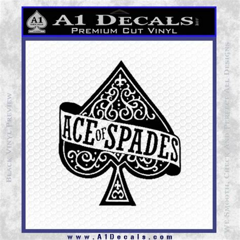 Decal Sticker Apple Ace Katze Decal ace of spades intricate decal sticker 187 a1 decals