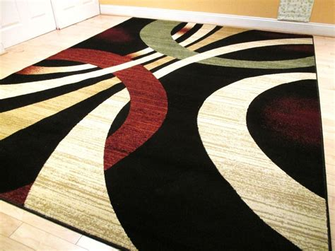 Area Rugs Modern Contemporary Modern 8x11 Rug Black Contemporary Area Rugs 5x8 Rug Beige Rugs Green 5x7 Carpet Ebay